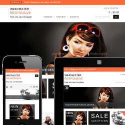 Free Zen Cart Templates, Themes, & Modules by Picaflor Azul