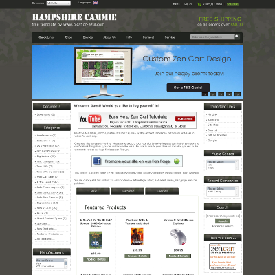Hampshire cammie zen cart zen cart templates for Free responsive zen cart templates