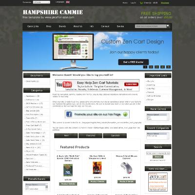 free responsive zen cart templates - hampshire cammie zen cart zen cart templates