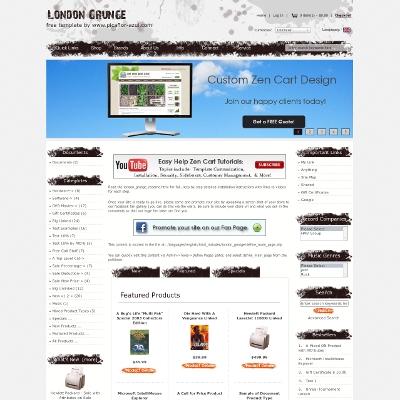 Zen Cart Website Template