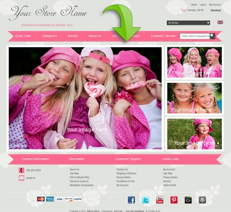 Homepage Layout with CSS3 Hover Effects - 8 Variations