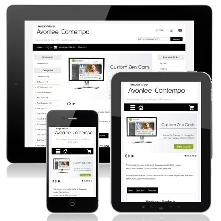 Responsive avonlee contempo responsive zen cart mobile template.
