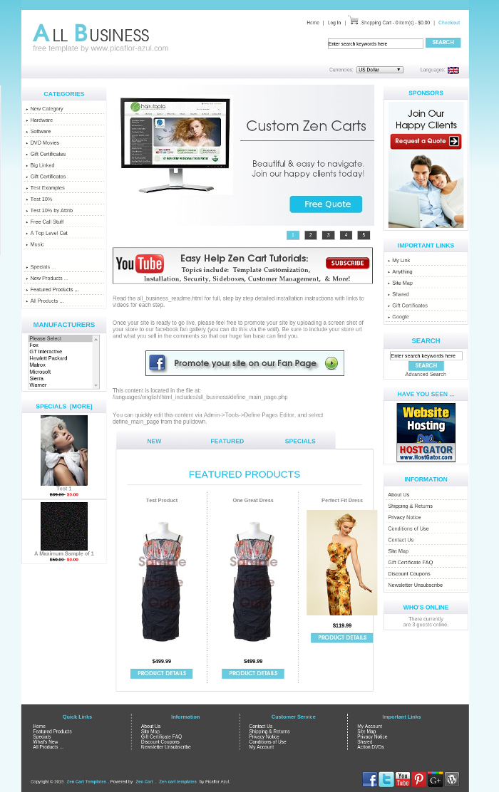 All business zen cart templates it 39 s free zen for Free responsive zen cart templates