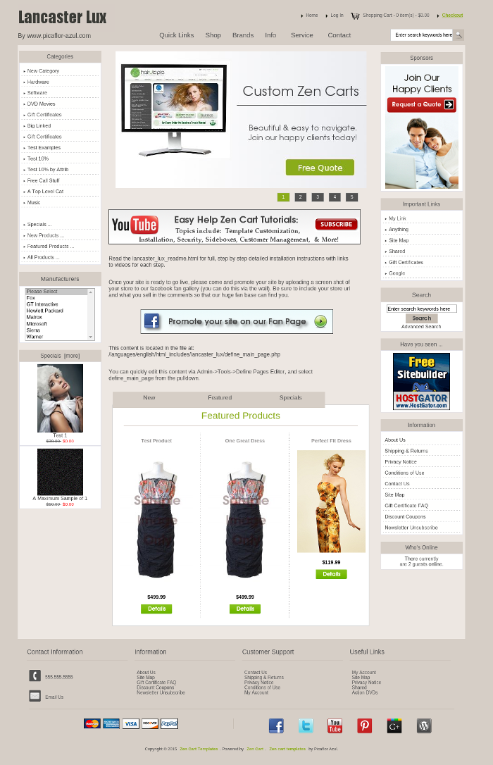Lancaster lux zen cart zen cart templates for Free responsive zen cart templates
