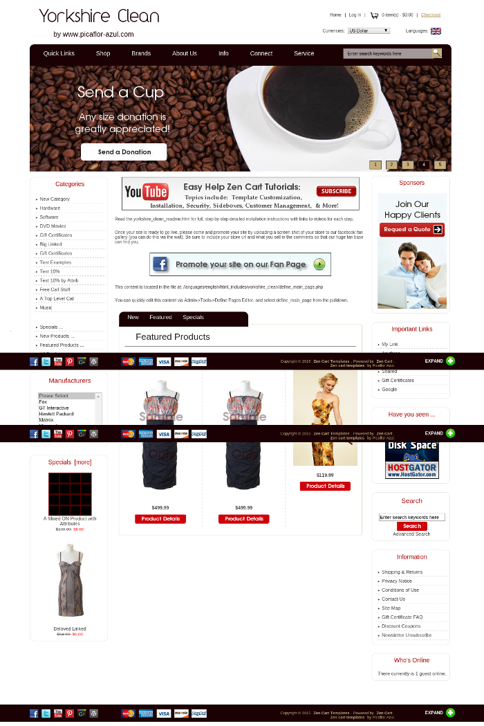 Yorkshire clean zen cart zen cart templates for Free responsive zen cart templates